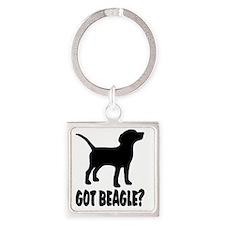 Got Beagle Square Keychain