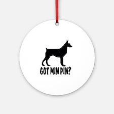Got Min Pin Round Ornament