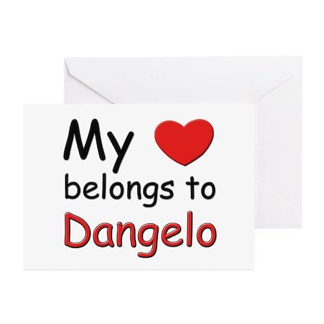 My heart belongs to dangelo Greeting Cards (Packag