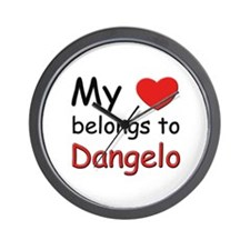 My heart belongs to dangelo Wall Clock