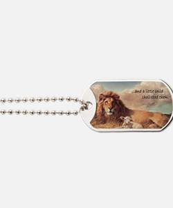 lionandlambmagnet copy Dog Tags