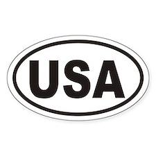 USA Euro Oval Car Sticker!
