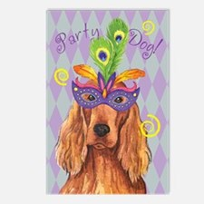 Party Irish Setter Postcards (Package of 8)