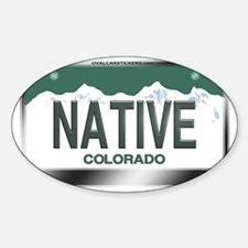 colorado_licenseplates-native3 Sticker (Oval)