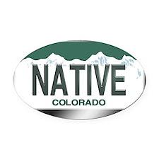 colorado_licenseplates-native3 Oval Car Magnet