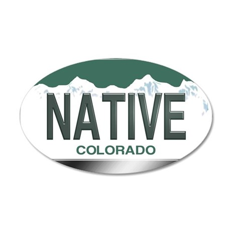 colorado_licenseplates-nativ 35x21 Oval Wall Decal