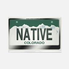 colorado_licenseplates-native2 Rectangle Magnet