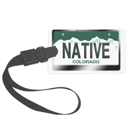 colorado_licenseplates-native2 Large Luggage Tag