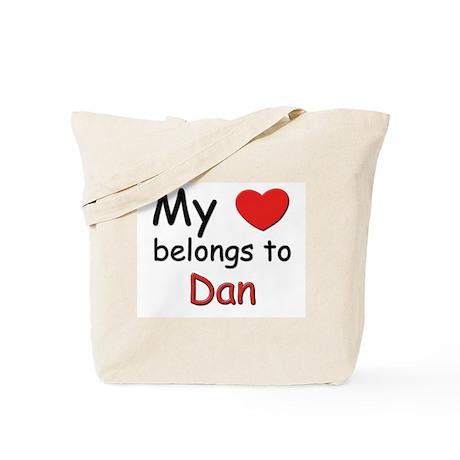 My heart belongs to dan Tote Bag