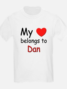 My heart belongs to dan Kids T-Shirt