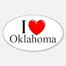 """I Love Oklahoma"" Oval Decal"