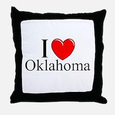 """I Love Oklahoma"" Throw Pillow"
