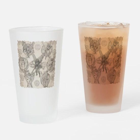 7Angels10x10BlkT Drinking Glass