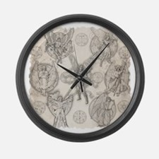 7Angels10x10BlkT Large Wall Clock