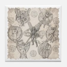 7Angels10x10BlkT Tile Coaster