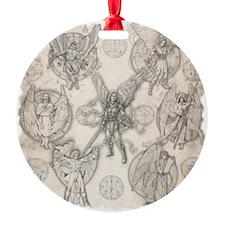7Angels10x10BlkT Ornament
