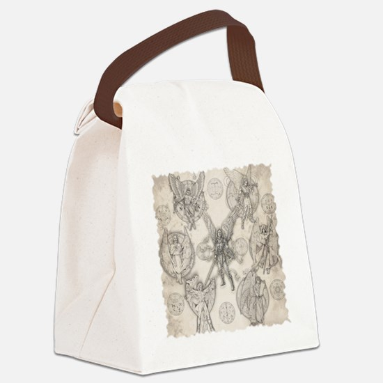 7Angels10x10BlkT Canvas Lunch Bag