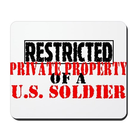 Restricted Private Property o Mousepad