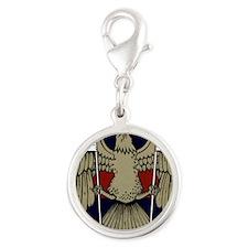 Eagle Silver Round Charm