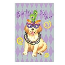 Party Golden Postcards (Package of 8)
