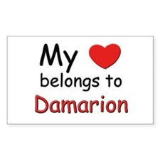 My heart belongs to damarion Rectangle Decal