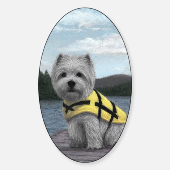Truman at the Lake Sticker (Oval)