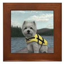 Truman at the Lake Framed Tile