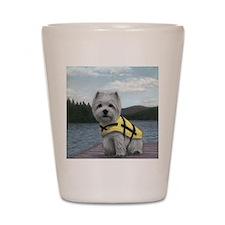 Truman at the Lake Shot Glass