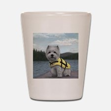 Truman at the Lake Shot Glass