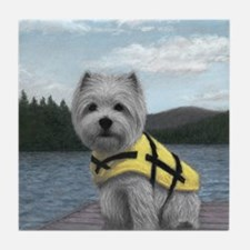 Truman at the Lake Tile Coaster