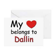 My heart belongs to dallin Greeting Cards (Package