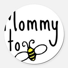 bee_mommy Round Car Magnet