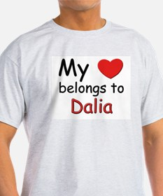 My heart belongs to dalia Ash Grey T-Shirt