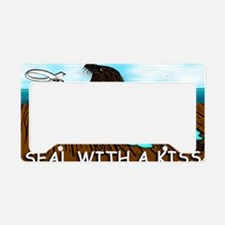 SEAL WITH A KISS mugs License Plate Holder