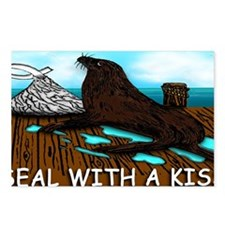 SEAL WITH A KISS mugs Postcards (Package of 8)