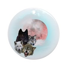 Wolfs Moon T Round Ornament
