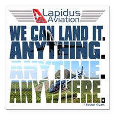 "3-Lapidus Aviation Square Car Magnet 3"" x 3"""