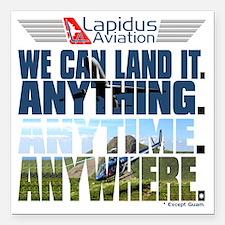 """3-Lapidus Aviation Square Car Magnet 3"""" x 3"""""""