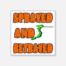 "SPRAYED Square Sticker 3"" x 3"""