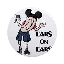 Ears on Ears Lettered Round Ornament