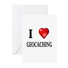 I love geocaching Greeting Cards (Pk of 10)
