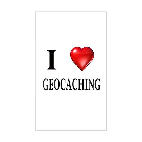 I love geocaching Rectangle Sticker