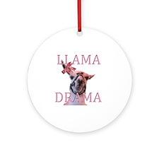 LLAMADRAMA Round Ornament