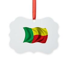 WavyBeninFlag1 Ornament