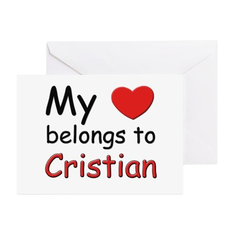 My heart belongs to cristian Greeting Cards (Packa