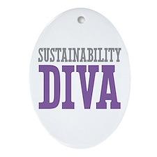 Sustainability DIVA Ornament (Oval)