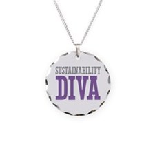 Sustainability DIVA Necklace Circle Charm