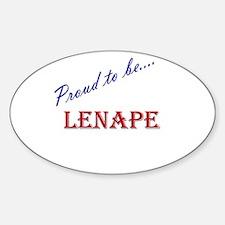 Lenape Oval Decal