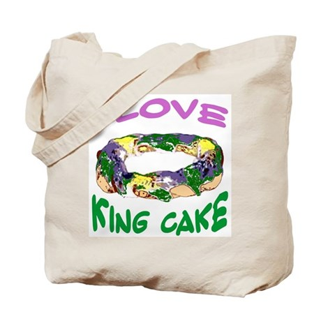 I LOVE KING CAKE Tote Bag by figstreetstudio
