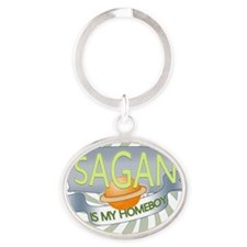 Sagan is my Homeboy Oval Keychain